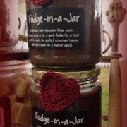 Christmas Fudge in jar